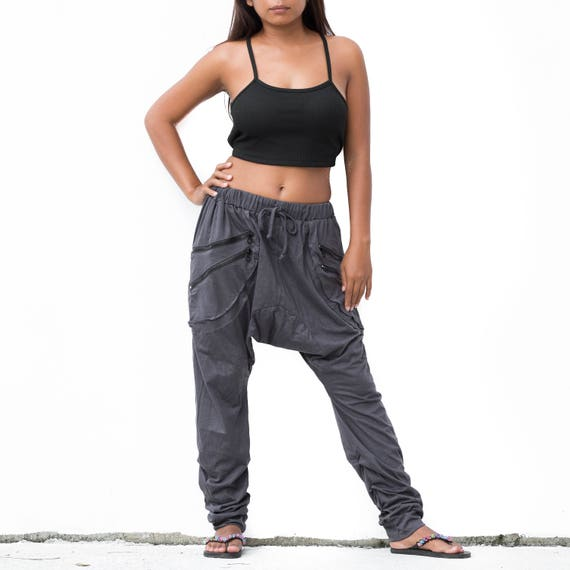 Boho Pants Drop Crotch Shorts Harem Pants Short Goa Pants Festival Pants 6emDmp