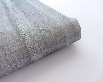 Grey super shiny raw silk India fabric nr 583 for 1/4 yard