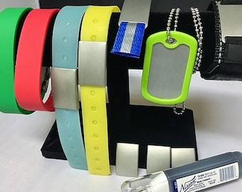 Bracelet Set with Metal Marking BLACK Marker