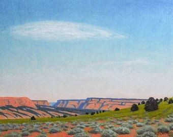 Utah ' Mesa Afternoon' - original landscape painting - plein-air - southwest art - western - turquoise - blue sky - red rocks - wall art