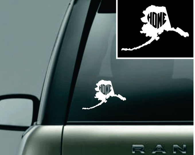 Alaska Love Your State Car Decal