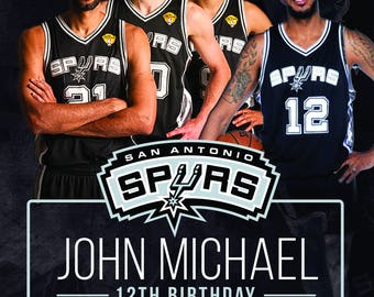 Spurs Theme Birthday Party, Spurs Birthday Party, Spurs Invitation, Spurs PDF Printable, Spurs Custom Invite
