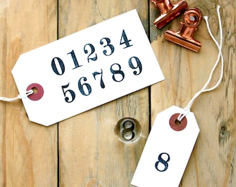Number Set - Rubber Stamps - Clear Rubber Stamps - Number Stamps - 0-10 Stamps - Birthday Stamp - Advent Stamps - LITTLE STAMP STORE