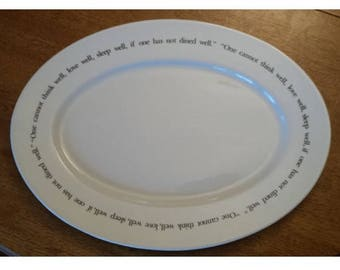 holiday platter, Virginia Woolf quote, Pottery Barn