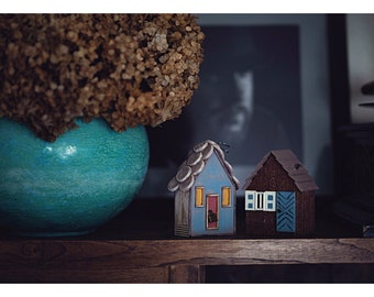 Handmade wooden houses, Wooden decoration, Wooden houses, Living room decoration, Gift
