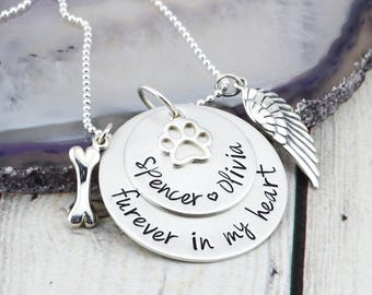 Sterling Silver Pet Memorial Necklace - Pet Loss Gift - Pet Memorial Jewelry - Pet Loss Necklace - Loss of Cat Gift - Loss of Dog Gift