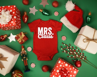 Baby First Christmas, Mrs. Claus, Santa Claus Wife, Baby Santa, Coming Home Outfit, Funny Baby Clothes, Baby Xmas Outfit, One Piece Costume