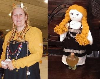 Viking Cloth Doll~ Custom Doll~ Viking Rag doll~ Living History Doll~ONE of a KIND Custom Cloth Doll ~ Custom Re-enactor Doll~