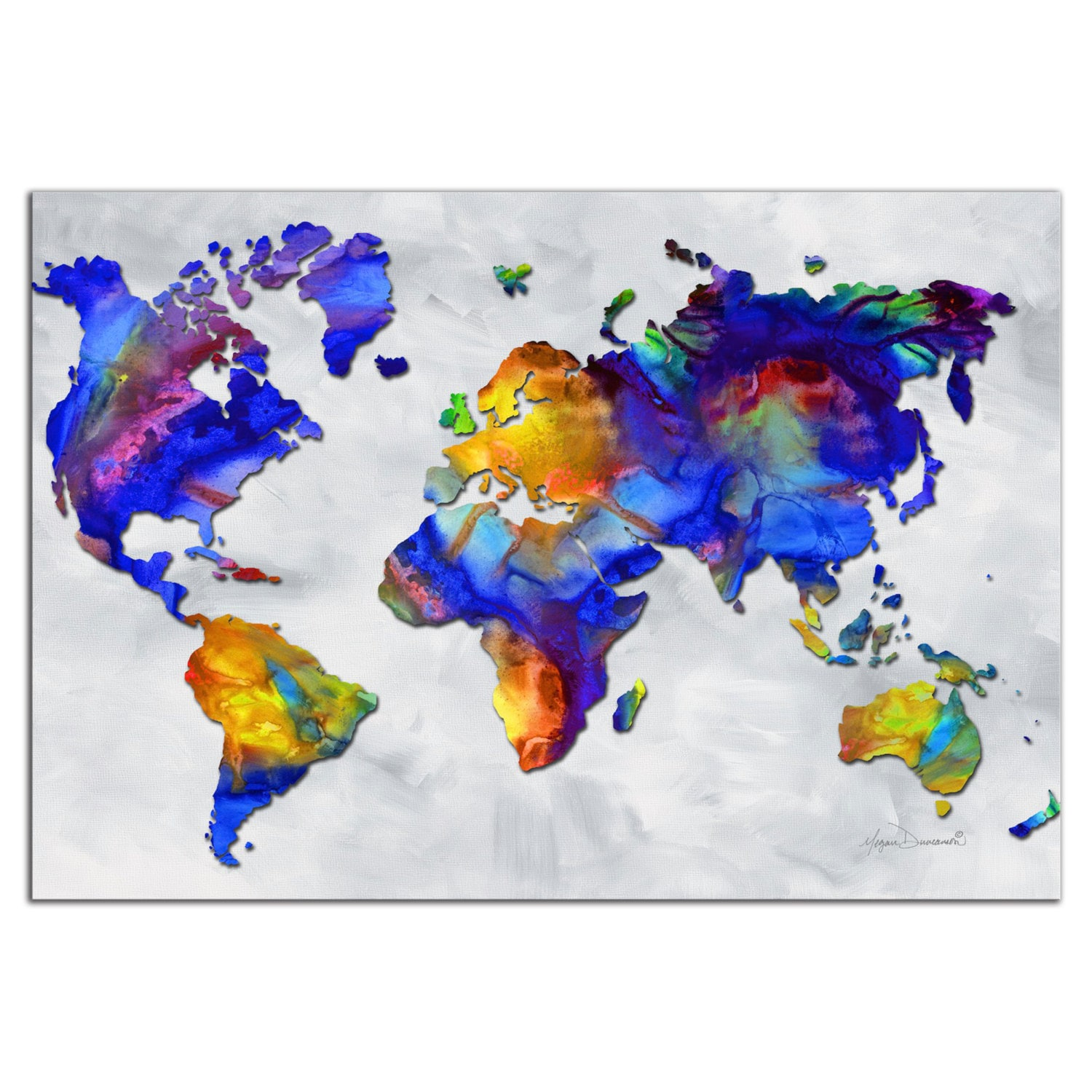 Colorful world map art beauty of color rainbow map zoom gumiabroncs Images