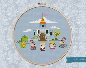 King Valiant's Castle - Cross stitch PDF pattern