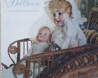 "The Dollhouse 1984 Engagement Calendar, Twelve Doll photos 12x8-7/8"""
