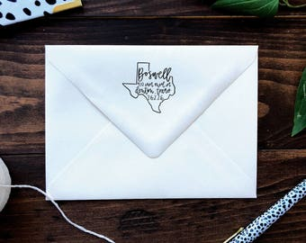 Texas Stamp, Oklahoma Stamp, Louisiana Stamp, Texas Return Address Stamp, Oklahoma Return Address Stamp, LA Return Address