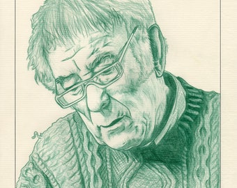 Seamus Heaney Signed & Numbered Limited Edition Mounted Pencil Drawing Irish Art Prints (Edition size of 50)