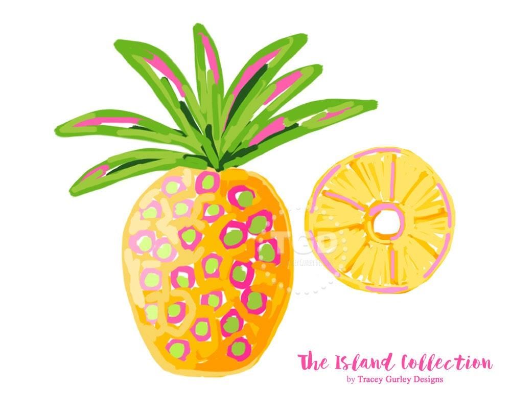 preppy pineapple clip art original art download whimsical rh etsy com pineapple clipart images pineapple clip art free