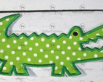 Alligator - Iron On or Sew On Embroidered Applique