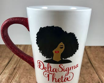 Delta Sigma Theta | Mothers Day Gift | Sorority Sister Gift | Black Girl Gifts | Line Sisters gift | HBCU  | D9 | Natural