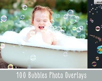 100 Bubbles Photoshop Overlays, Soap Bubbles Overlay, PNG Bubbles, Realistic Soap  bubble Photo effect, digital bacdrop, bubble backdrop