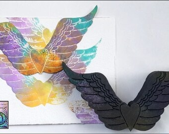 Rita Barakat, heart wing stamp, ArtFoamies, stamp, foam stamp , heart stamps, wing stamps