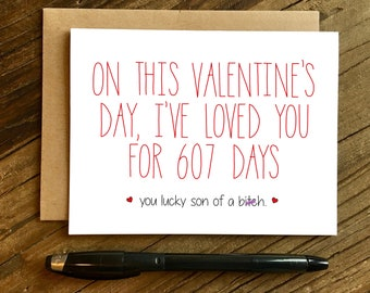 Valentine's Day Card - Valentines Day Card - Funny Valentine's Day Card - I've Loved You.