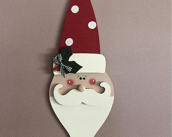 """18"""" Long curly bearded personalized Santa"""