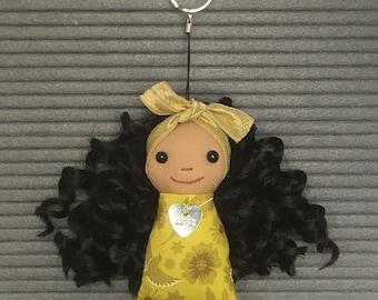Brown Doll Keychain/ Bag Charm