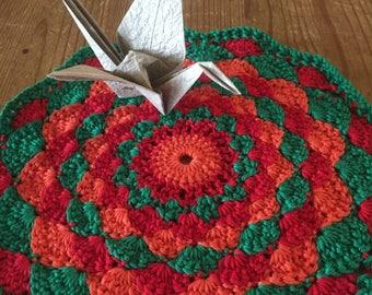 Crocheted Sunset Mandala