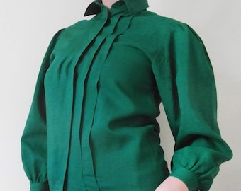 1990s Emerald Green Vintage Shirt