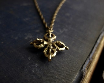 Men's Necklace,Mens Necklace,Hindu Necklace,Tibetan Necklace,Double Dorje Necklace,Dorje Necklace,Mens Jewelry,Men's Necklace,Mens Dorje
