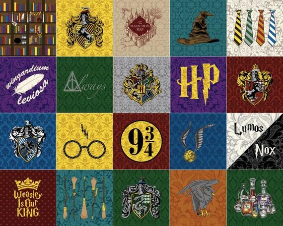 Complete Set All 20 Harry Potter Quilt Blocks