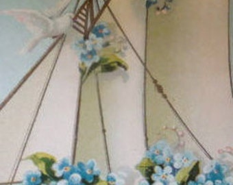 LAST CHACE SALENice Vintage Embossed Fantasy/Floral Postcard (Forget-Me-Nots)