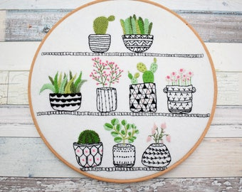 Rosie's Houseplants Hand Embroidery Kit