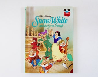 Snow White Disney's Wonderful World of Reading Hardbound book - Snow White and the Seven Dwarfs - Children's Book, Disney Book