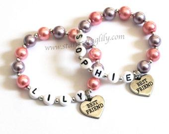 Best Friends Children's Charm Bracelets Child Kid Toddler Teen Sizes Graduation Gift Best Friend BFF Gifts