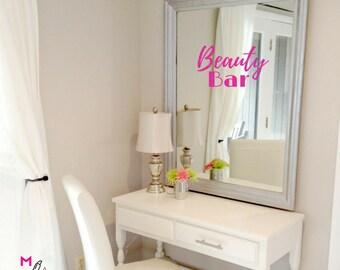WALL DECAL:  Beauty Bar - Makeup Vanity Wall Decal Sticker