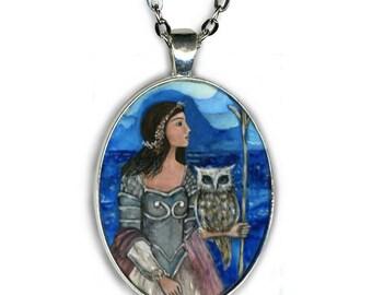 Statement Necklace - Athena Goddess - Goddess Jewelry - Goddess Necklace - gifts for her -gift necklace -inspirational gift - Goddess Altar