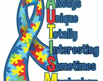 Autism Ribbon Sticker