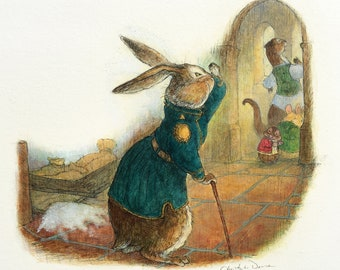Basil Stag Hare in the Redwall Kitchens