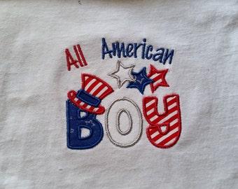 All American Boy shirt // 4th of July