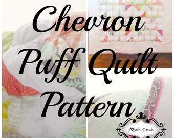 Chevron Puff Quilt Pattern