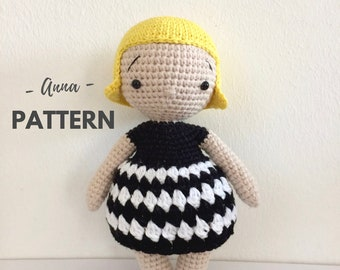 Anna | Amigurumi Doll Pattern, Crochet Doll Pattern, One Piece Crochet Doll, Amigurumi Pattern, PDF, Crochet pattern