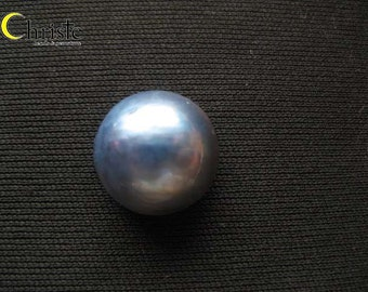 Blue Mabe Pearl Cabochon - 16mm round IB