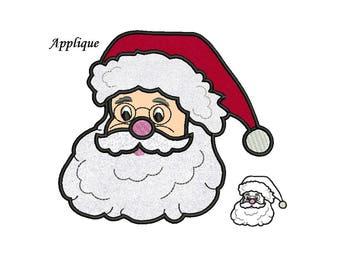 Santa Beard Applique Design - 3 sizes instant download 4x4, 5x7, 6x10