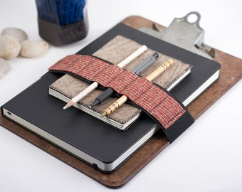 Large Journal Bandolier // brick house // (a better pencil case, journal pen holder, book strap, pen loop, pencil roll, pen bandolier)