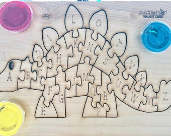 3D Wooden Puzzles –Jigsaw puzzle- Playset- Make learning fun-Educational Toys set-with Non-Toxic Paint,-Boys & Girls,
