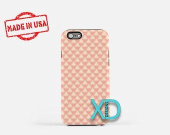 Triangle Phone Case, Triangle iPhone Case,  Pink Boho iPhone 7 Case, Cream, Pink, Pink Boho iPhone 8 Case, Triangle Tough Case, Clear Case