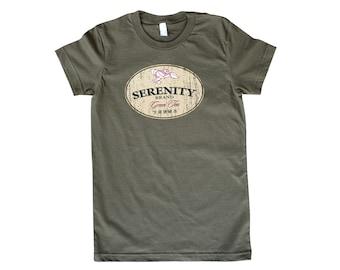 Womens Serenity Brand Green Tea T Shirt