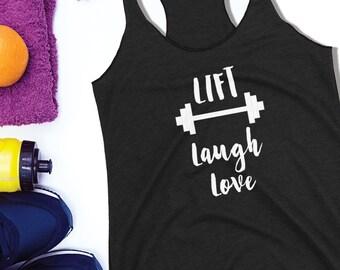 Lift Laugh Love Tank Top