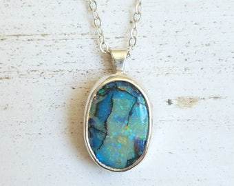 Monarch opal necklace