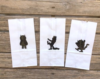Wild One Party Bags, Where The Wild Things Are Inspired, First Birthday, Wild One, Baby Shower, Birthday Party, Gift Bags