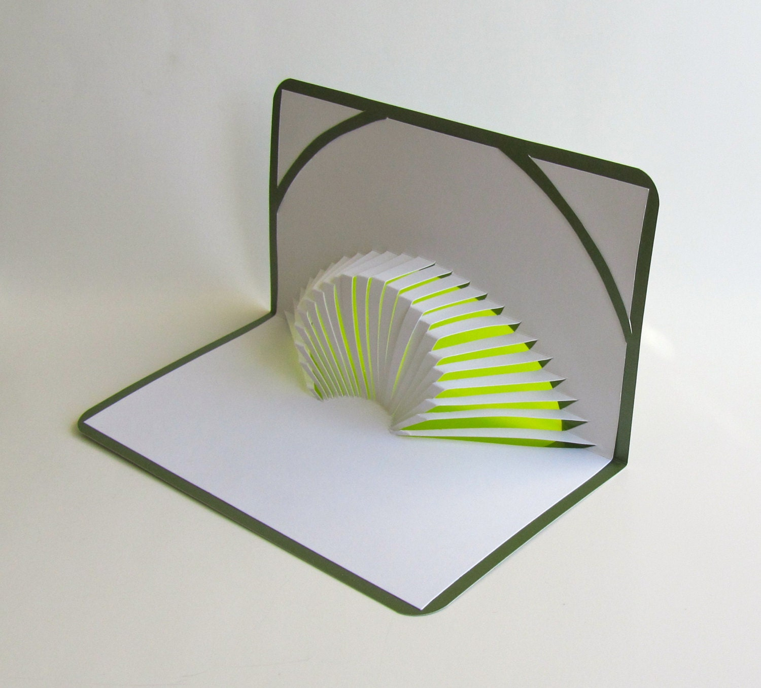 3d pop up card of geometric volcano design with intricate cuts zoomen ccuart Gallery